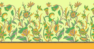 Seamless border for textile design Royalty Free Stock Photography