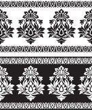 Seamless border for textile fabrics Royalty Free Stock Photography