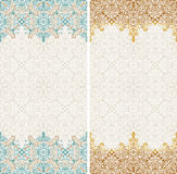 Seamless border vector ornate in Eastern style. Islam pattern Stock Photos