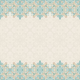 Seamless border vector ornate in Eastern style. Islam pattern Stock Images