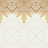 Seamless border vector ornate in Eastern style. Islam pattern Stock Image