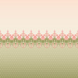 Seamless border. Seamless vintage floral oriental border. Vector illustration Stock Photography