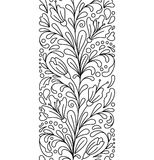 Seamless borders  in doodle style. Floral, ornate, decorative, Valentines, Womens day design elements. Black and white background. Zentangle coloring book page Stock Photo