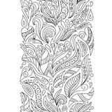 Seamless borders  set in doodle style. Floral, ornate, decorative, tribal Royalty Free Stock Images
