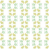 Seamless botanic elements watercolor pattern Royalty Free Stock Photo