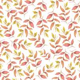 Seamless botanic pink yellow pattern. Digital illustration. vector illustration