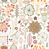Seamless botanical pattern Stock Photo