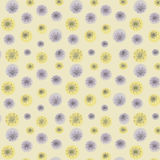 Seamless botanical pattern abstract hand drawn blueberries beige grey background, fabric Royalty Free Stock Photography