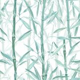 Seamless Botanical pattern. Bamboo branches on a pink background. Stylish pattern for textiles. Seamless Botanical pattern. Bamboo branches on a pink background stock illustration