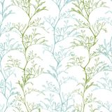 Seamless botanical pattern royalty free illustration