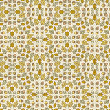 Seamless botanical pattern with oak leaves and Royalty Free Stock Images