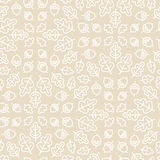Seamless Botanical Pattern With Oak Leaves And Stock Photography