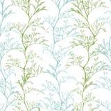seamless botanisk modell royaltyfri illustrationer