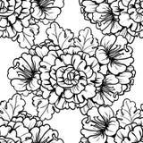 seamless botanisk modell Arkivbild