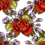 seamless botanisk modell Royaltyfri Foto