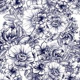 seamless botanisk modell Royaltyfria Bilder