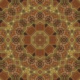 Seamless boulle marquetry Arabesque pattern 003 Royalty Free Stock Images