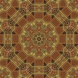 Seamless boulle marquetry Arabesque pattern 001 Stock Image