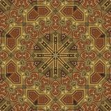 Seamless boulle marquetry Arabesque pattern 002 Royalty Free Stock Photo