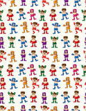Seamless boxer pattern Stock Photo