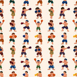 Seamless boxer pattern Royalty Free Stock Photos
