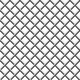 Seamless braided diagonal grille. Seamless chrome braided diagonal grille isolated on white vector illustration