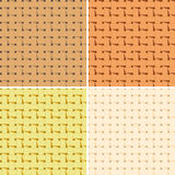 4 seamless braided pattern Stock Photography