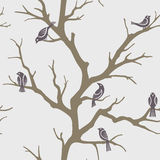 Seamless branches pattern. Seamless pattern with branches' silhouettes Stock Photography
