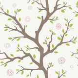 Seamless branches pattern. Seamless pattern with branches' silhouette Stock Photo