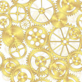 Seamless Brass Gear Background Royalty Free Stock Photography