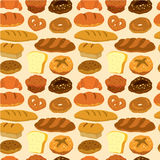 Seamless bread pattern. Vector drawing royalty free illustration