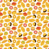 Seamless bread pattern Stock Photos