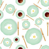 Seamless breakfast pattern Royalty Free Stock Image