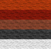 Seamless brick pattern in 5 colors Royalty Free Stock Photos