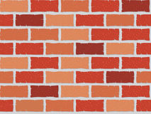 Seamless brick wall. Illustration.  Will tile in any direction perfectly.  Please check my portfolio for more seamless illustrations Stock Image