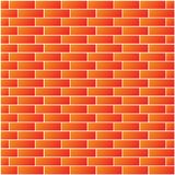 Red brick wall seamless Vector illustration background - texture pattern for continuous replicate royalty free stock photography