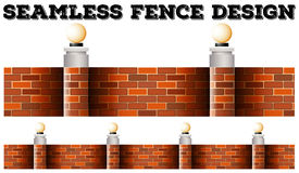 seamless brick wall design royalty free stock photos - Brick Wall Fence Designs