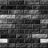 Seamless brick wall pattern - monochromatic stock illustration