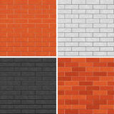 Seamless brick wall patterns. Royalty Free Stock Photography