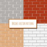 Seamless brick wall rectangular pattern Royalty Free Stock Image