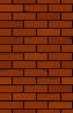 Seamless brick wall. The red brick. Stock Photo