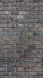 Seamless brick wall texture. Seamless black brick wall texture Stock Photography