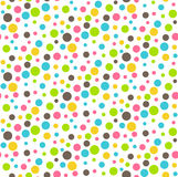 Seamless Bright Abstract Dots Chaos Pattern Stock Photo