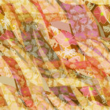 Seamless bright abstract floral pattern in orange background Royalty Free Stock Image