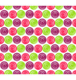 Seamless Bright Abstract Hypnotic Circles Pattern Stock Image