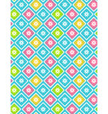 Seamless bright abstract pattern with flowers Royalty Free Stock Images