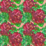 Seamless bright abstract pattern with roses. Vector picture. Stock Photography