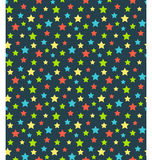 Seamless bright abstract pattern  with stars isolated on blue Stock Photo