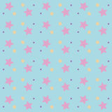 Seamless bright abstract pattern with stars isolated on white background Stock Photography