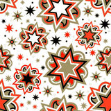 Seamless bright abstract star background Royalty Free Stock Images